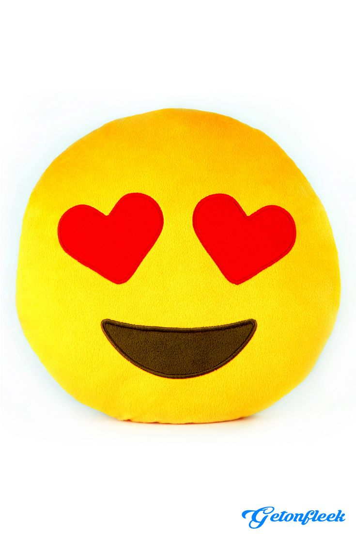 Emoji Heart Eyes Pillow - Check out the entire collection! www.getonfleek.com