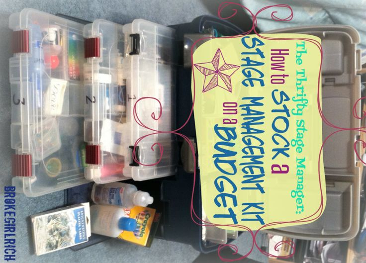 The Thrifty Stage Manager: How to Stock a Stage Management Kit on a Budget