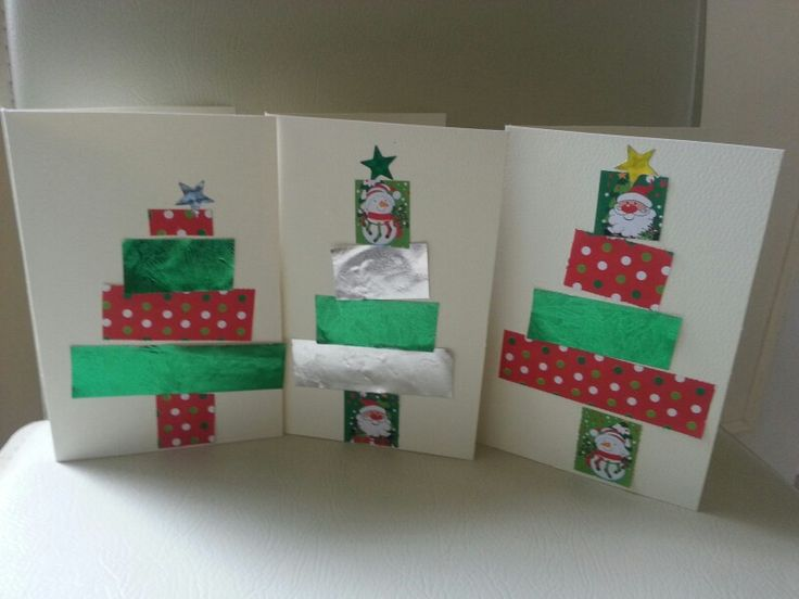 Paperchain Christmas Cards. Ideal for children to make.
