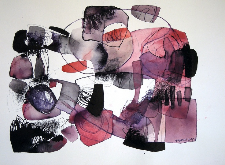 """""""Cielos rojos"""", Watercolor. Adolfo Morales"""