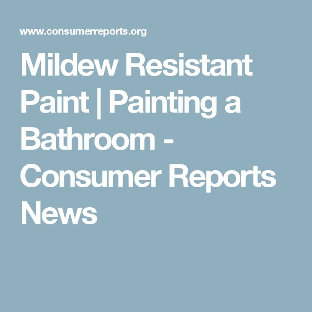 Best Mildew Resistant Paint For Your Bathroom