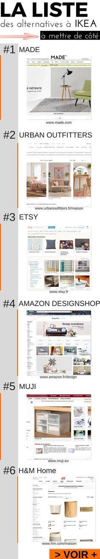 La liste des alternatives à IKEA à mettre de côté !   http://www.homelisty.com/alternative-ikea/