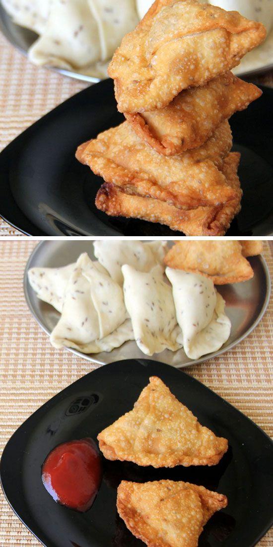 Paneer Samosa - Feel the taste of this delitious paneer samosas!  #paneer #food #indianfood #Zaika  http://zaikaofkensington.com/