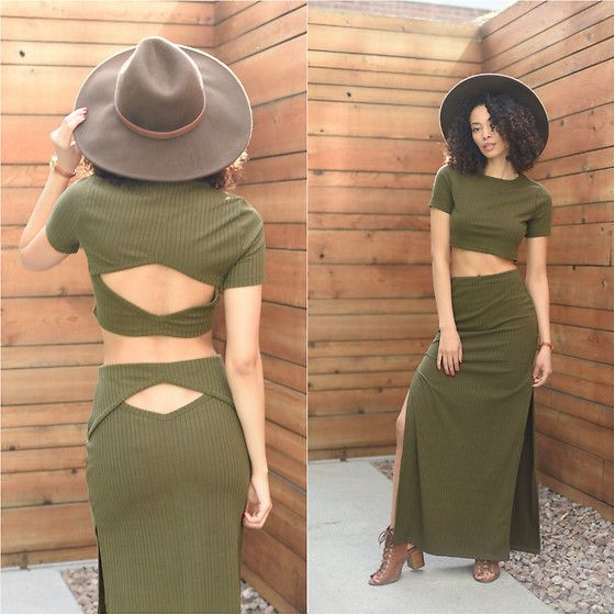 Get this look: http://lb.nu/look/8171981  More looks by Shemmai Torres: http://lb.nu/shemmaitorres  Items in this look:  Forever 21 Wide Brim Fedora, Tobi Ribbed Crop Top, Tobi Ribbed Maxi Skirt   #bohemian #minimal #street #spring #springlookbook #maxi #croptop #hats #boots