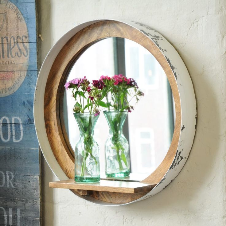 Distressed Paint Mirror