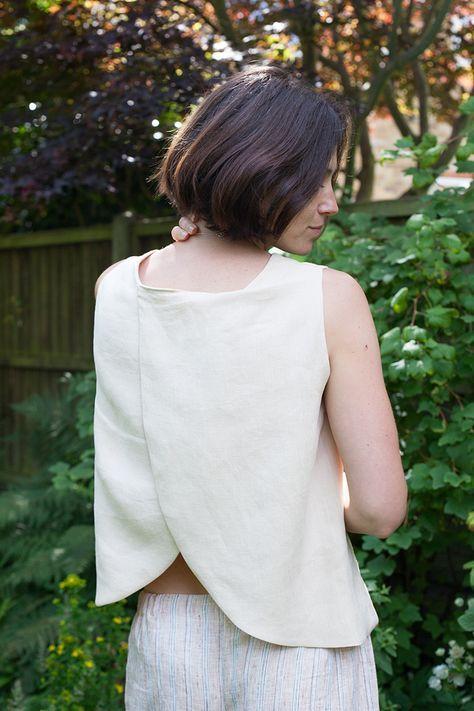 Split Back Linen Tank Tutorial | Fabrics-Store.com - The Thread