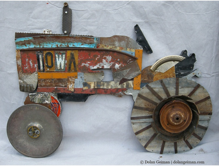 Metal Art Tractor : Best images about tractor craft ideas on pinterest