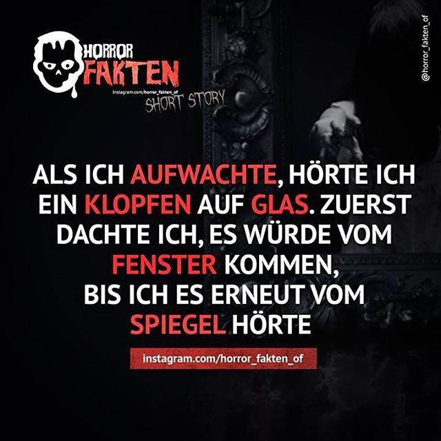 ◻️Immer auf eure Spiegel achten !  #horrorfakten #fakten #textgram #halloween…