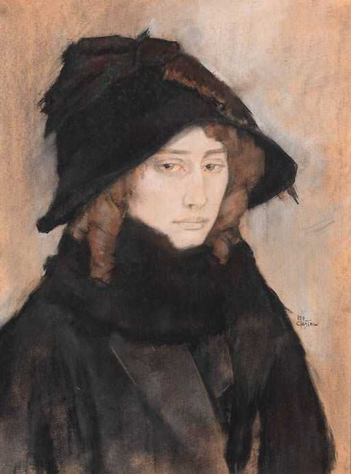 The Athenaeum - Portrait of An Overtoom, wife of the artist (Leo Gestel - )