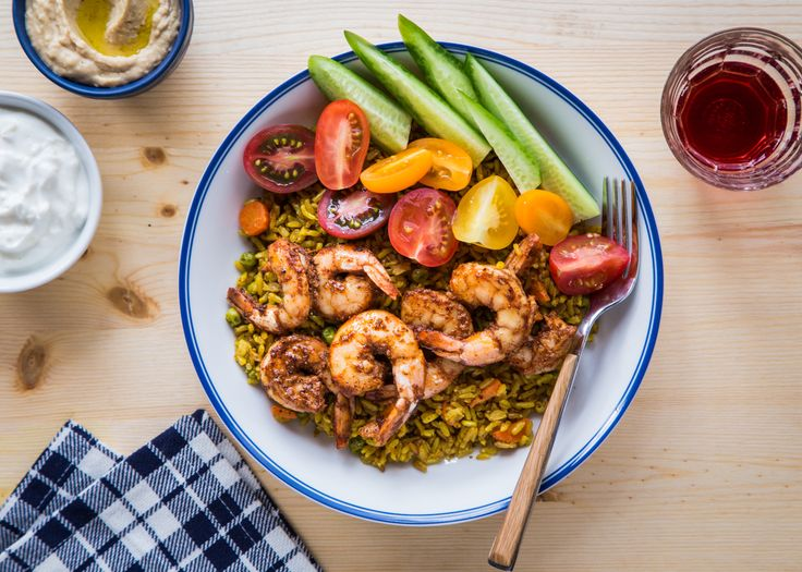 Shrimp Shawarma Bowls with homemade Shawarma seasoning is a spicy, flavor packed seafood dinner great for Lent!