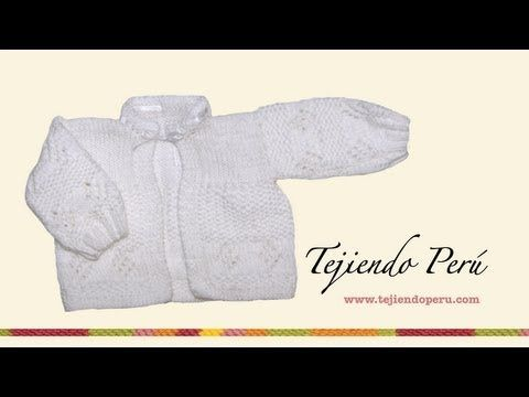 Tutorial, primera parte, de Jersey de Bebé, con hojas en la pechera, instrucciones y gráfico para lana fina y agujas de 2 mm, y lana merino o algodón y aguja...