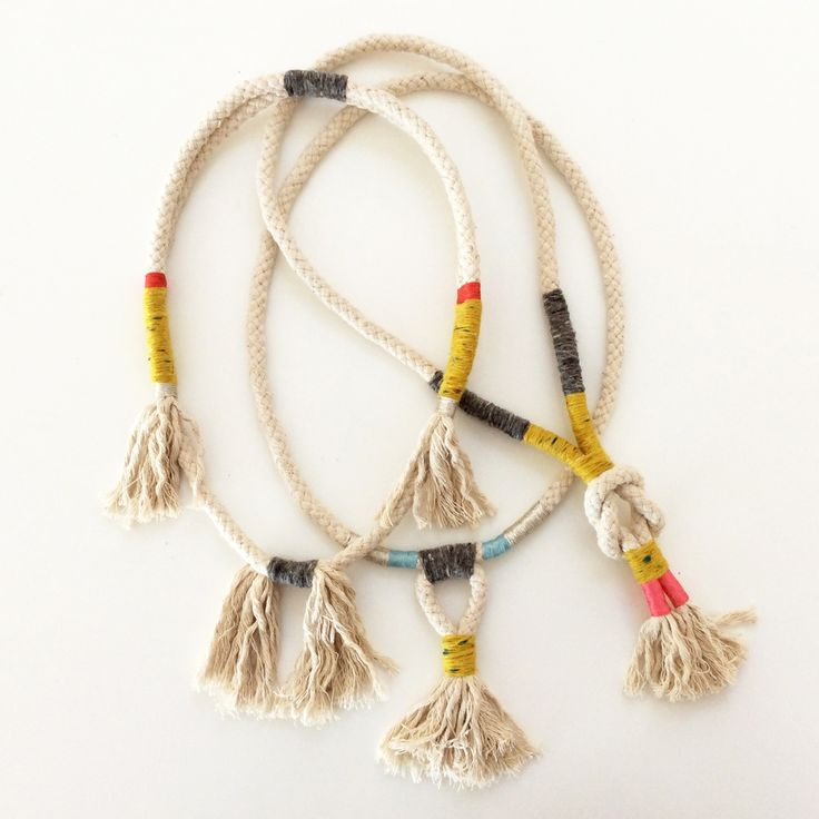 DIY Rope Necklace, The Corner Store Gallery