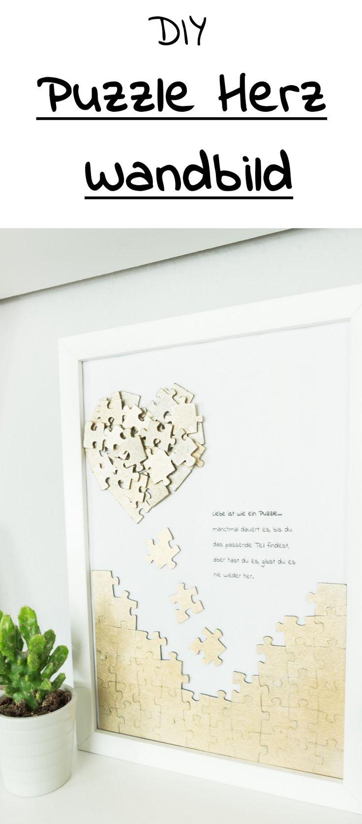 Mural de quebra-cabeça DIY coração – linda idéia de presente DIY