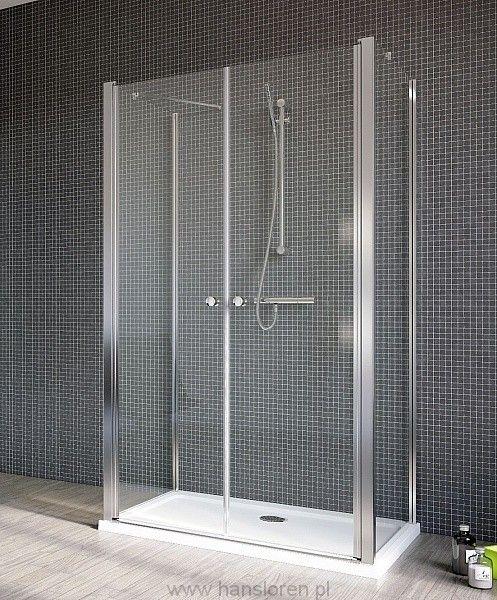 Eos II DWD 2S Radaway drzwi dwuczęściowe (wahadłowe) do kabiny prysznicowej przyściennej 800x1970 chrom przejrzyste - 3799400-01 http://www.hansloren.pl/Kabiny-RADAWAY/245