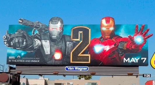 Valla publicitaria - Iron Man 2