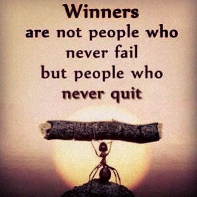 winners are not people who never fail but people who