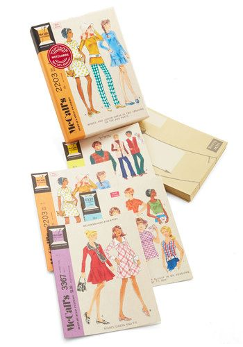 Just Sew Sweet Notecard Set by Chronicle Books - Multi, Vintage Inspired, Good, Novelty Print