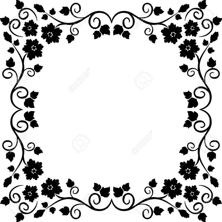 frame design vector black and white - Google Search