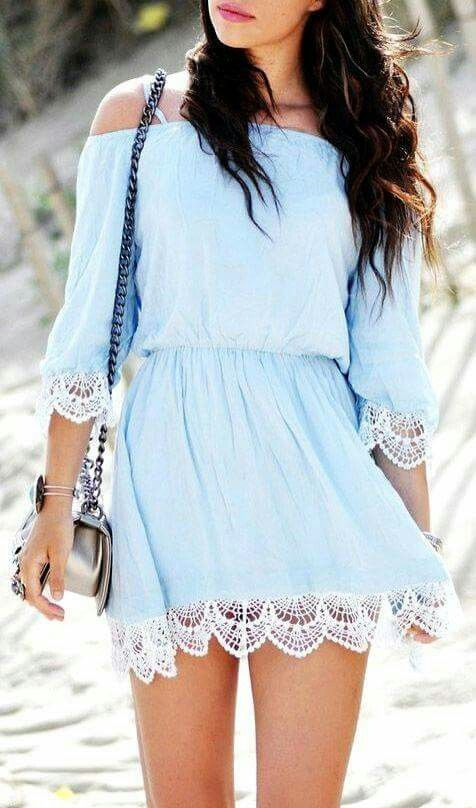 Dress trimmed with lace