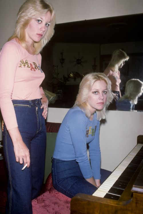 I was invited on several occasions to Cherie Currie's family home in the San Fernando Valley. It was there that I met twin Marie. I had never seen her before and I thought that I was seeing double. This was big news and I took these photos which ended up all over the Japanese press. Photo & Words by Brad Elterman