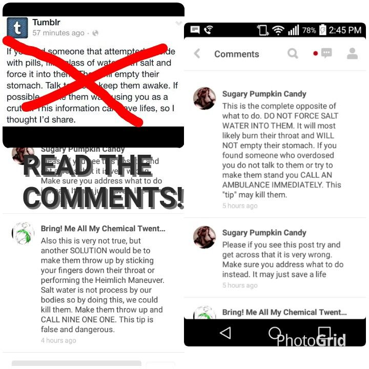 READ THIS! DON'T LISTEN TO THE TUMBLR POST! IT COULD KILL THE PERSON FASTER! These are comments on the pin, listen to those