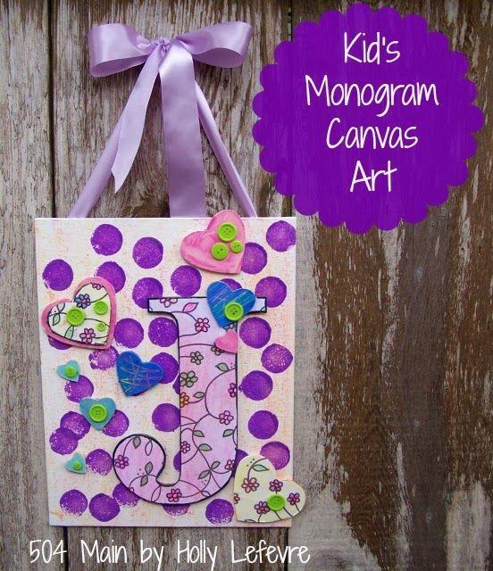 Kid's Monogram Canvas Art: Making Colorful Magic with Crayola