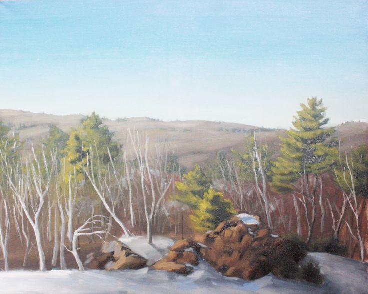 "Alex L. King Painting 24x30""  #oil #canvas #art #painting #landscape #trees #rock #mountain"
