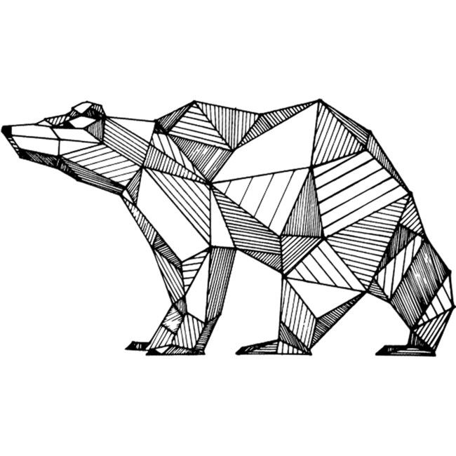 Geometric Bear is a T Shirt designed by MrKyle to illustrate your life and is available at Design By Humans