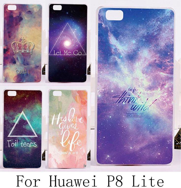 Aliexpress.com: Comprar Estilo de lujo artístico estrellas sky modelo pintado teléfono móvil caso de la piel para Huawei P8 Lite P8 Mini duro cáscara del teléfono de teléfono fiable proveedores en WEE
