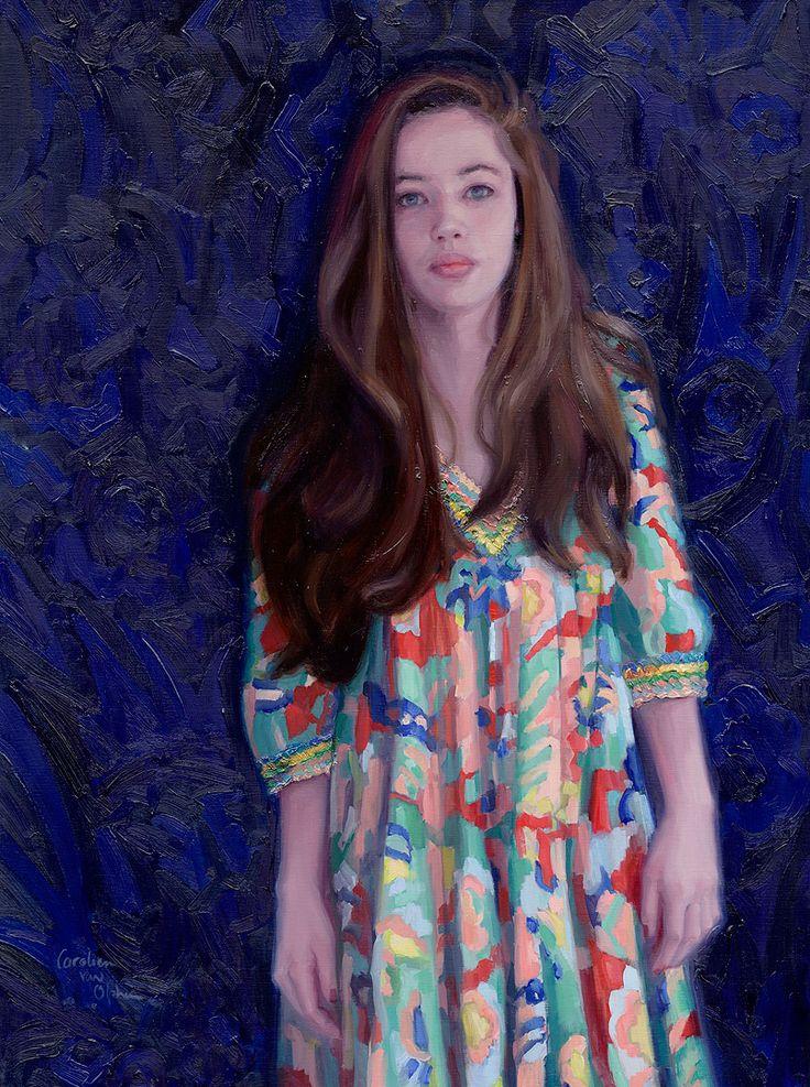 """""""True Colors"""" 90x120 cm, oil on linen.  Portrait painting by Carolien van Olphen"""