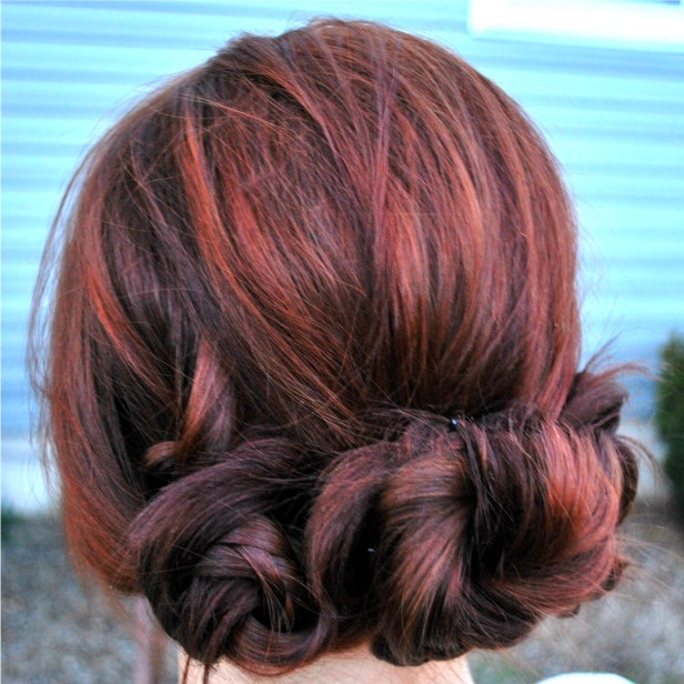 Cute updo: Hairstyles, Fun Recipe, Easiest Hairs, Hairs Styles, Hairs Color, Beauty, Red Highlights, Braids Buns, Easy Updo