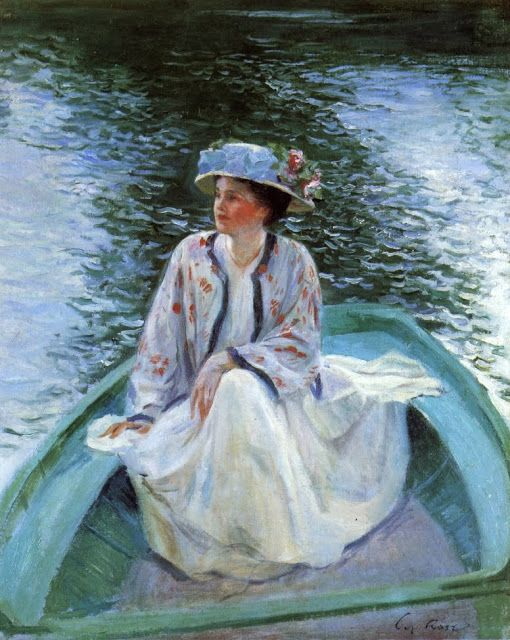 """On River's Edge"" -- 1910 -- Guy Orlando Rose -- American -- Oil on canvas -- No further reference provided."