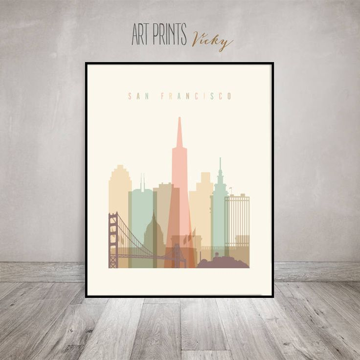 San Francisco art, Poster, Print, Wall art, San Francisco skyline, City prints, Travel Gift, Home Decor, Travel decor,ArtPrintsVicky by ArtPrintsVicky on Etsy https://www.etsy.com/listing/245911155/san-francisco-art-poster-print-wall-art