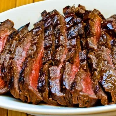 Marinated and Grilled Flank Steak Recipe; low-carb, Paleo, Whole 30, gluten-free, South Beach Diet