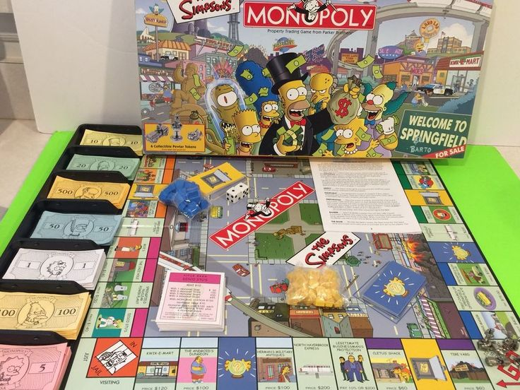 Simpsons Monopoly Game Pewter Tokens Complete Collectable Parker Bros Gift #ParkerBrothers