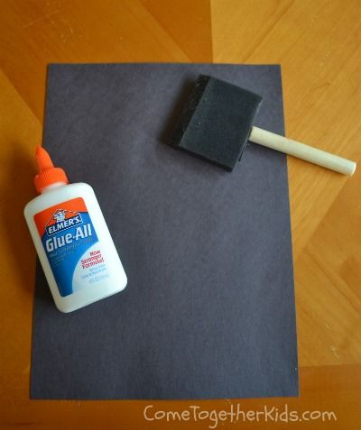 DIY: Make your own chalkboard with paper and glue #crafts