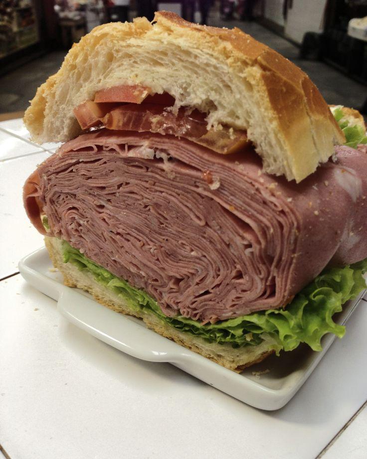 Bar do Mane's Mortadella Sandwich: Almost a pound of Meat!