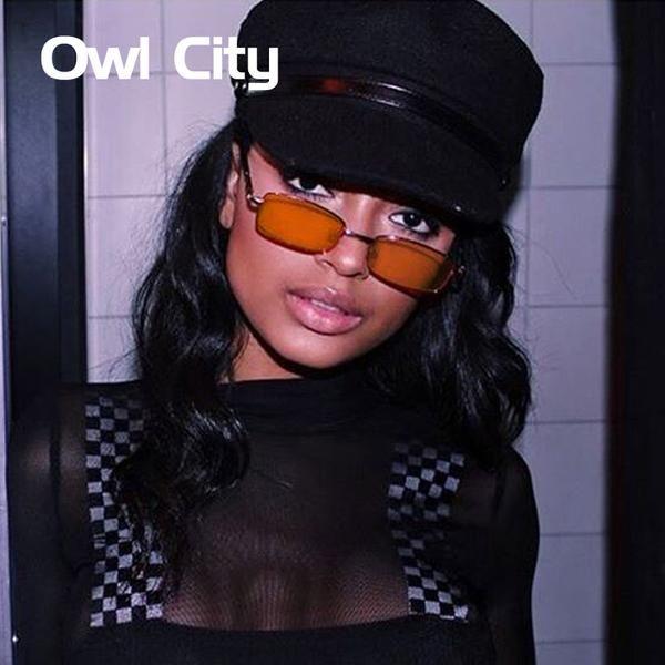 #FASHION #NEW 2018 Vintage Sunglasses Women Men Rectangle Glasses Brand Designer Small Retro Shades Yellow Pink Sunnies sunglasses-women