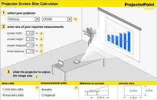 Projector Screen Size Calculator