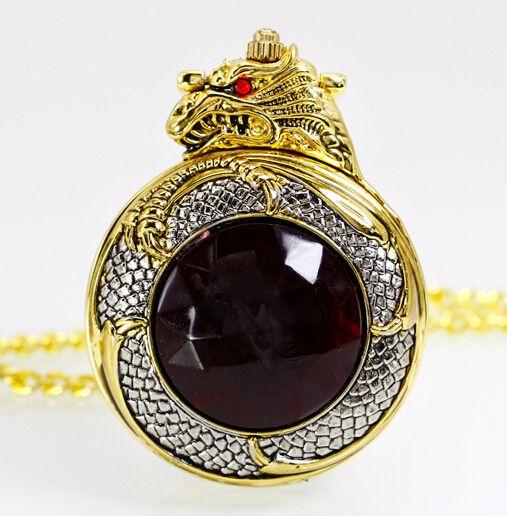 $8.27 (Buy here: https://alitems.com/g/1e8d114494ebda23ff8b16525dc3e8/?i=5&ulp=https%3A%2F%2Fwww.aliexpress.com%2Fitem%2FPB158-Luxury-Gold-Dragon-antique-pocket-watch-men-retro-quartz-machinery-women-steampunk-relogio-de-bolso%2F32604629336.html ) PB158 Luxury Gold Dragon antique pocket watch  men retro quartz machinery women steampunk relogio de bolso reloj mujer for just $8.27