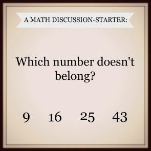 Math talk: Which number doesn't belong? | #frizzle #math #ccss