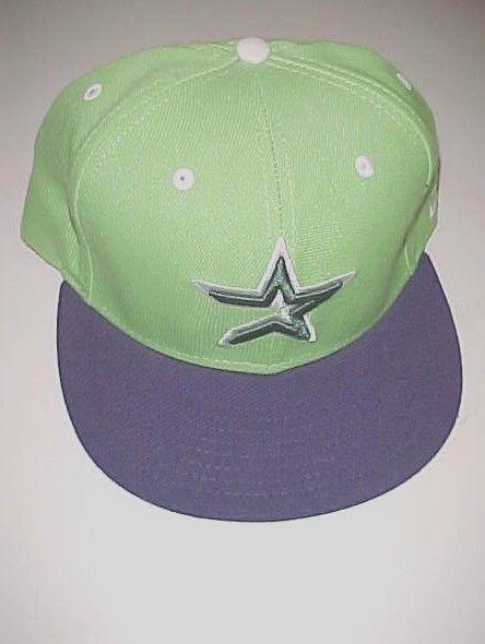 Houston Astros Star Logo MLB AL Adult Unisex Green Baseball Cap 7 1/2 New NWT #NewEra #BaseballCap