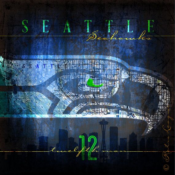 Hey, I found this really awesome Etsy listing at https://www.etsy.com/listing/172088205/seattle-seahawks-city-map-the-12th-man