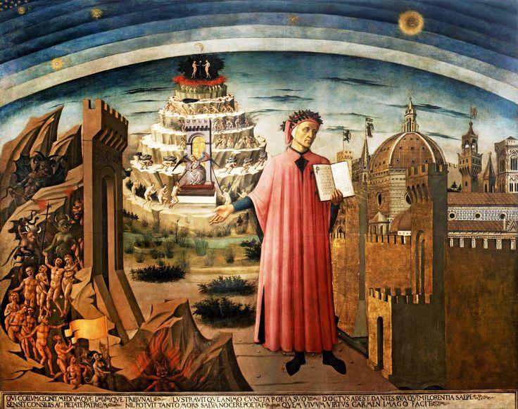 DOMENICO DI MICHELINO. Dante y su poema. 1465. Catedral de Santa Maria del Fiore, Florencia.