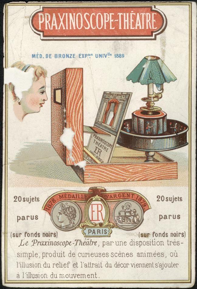 PRAXISNOSCOPE - Inventado em França, por Charles-Émile Reynaud, em 1877. Um aparelho de animação