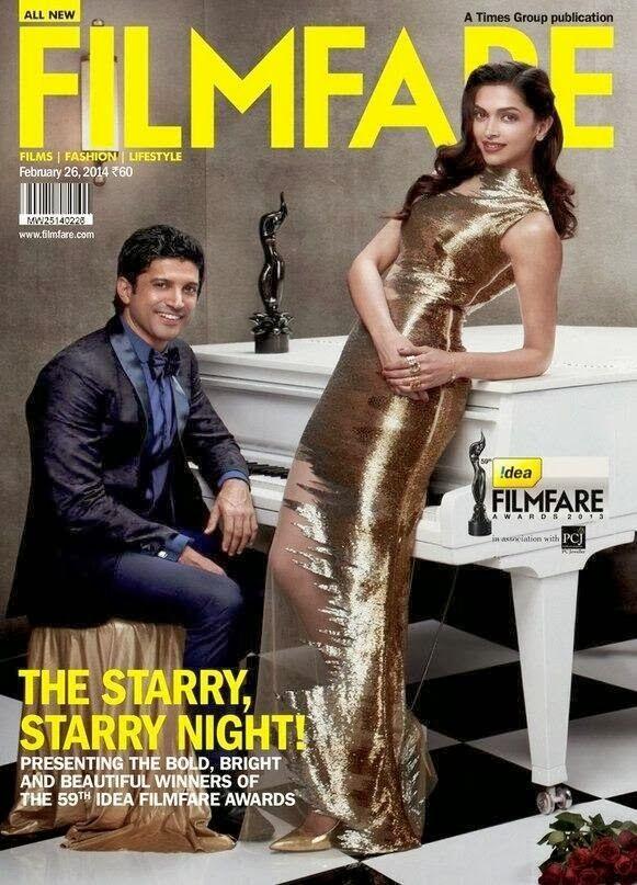 Deepika Padukone Photos from Filmfare India Magazine Cover February 2014 HQ Scans magazine-photoshoot :