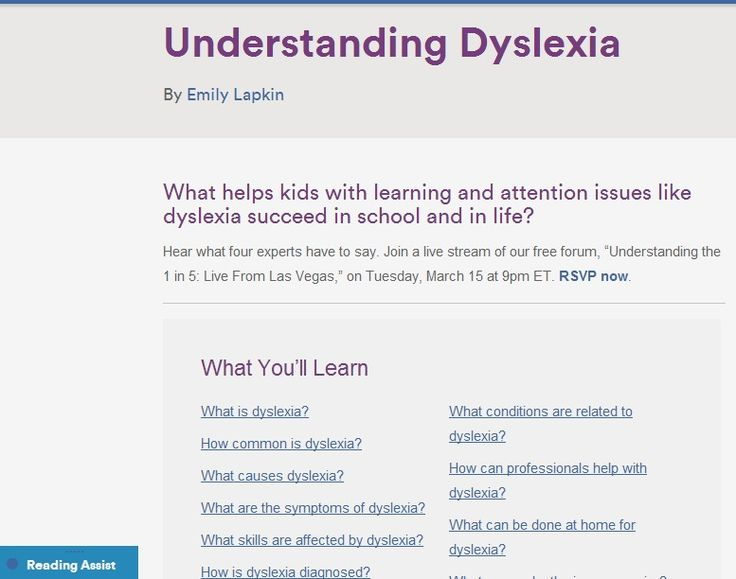 A Dyslexic Child in the Classroom