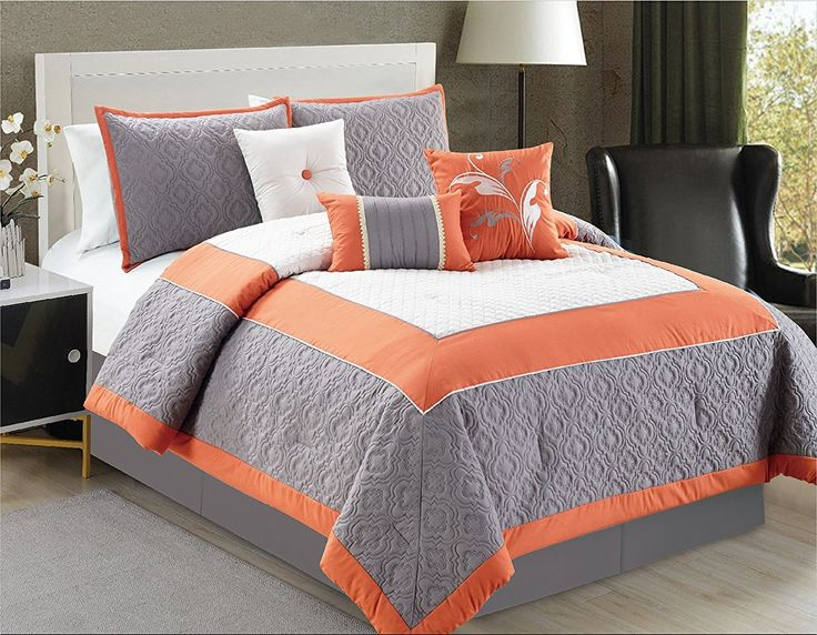 25 Best Ideas About Orange Bed Sets On Pinterest Navy
