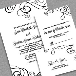 Abstract Ribbon Swirls Invitation Set... This might be the one