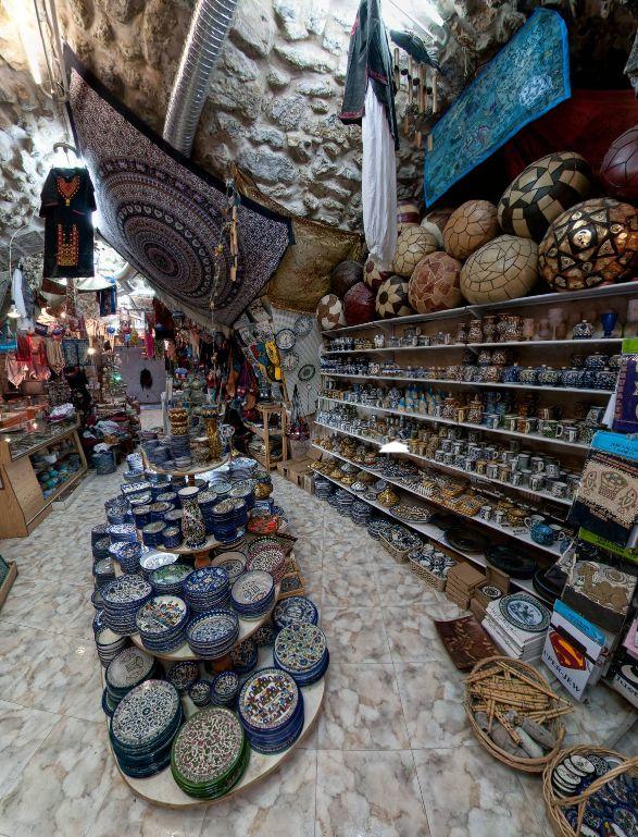 Bazzar Shop, Via Dolorosa, Old City, Jerusalem by Zoran Strajin. https://www.360cities.net/image/bazzar-shop-via-dolorosa-old-city-jerusalem#-57.28,9.54,165.0